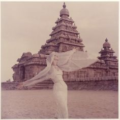 Veil and Indian Shore Temple, Anne Gunning, 1956