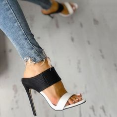 High Heels : Stiletto - Sandals Shoes - Ideas of Sandals Shoes - High Heels : Picture Description Stiletto Stiletto Shoes, High Heels Stilettos, Shoes Heels, High Sandals, Summer Sandals, Heeled Sandals, Edgy Shoes, Black Sandals, Red Flats