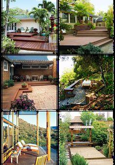 6 pictures of wooden backyard deck design ideas