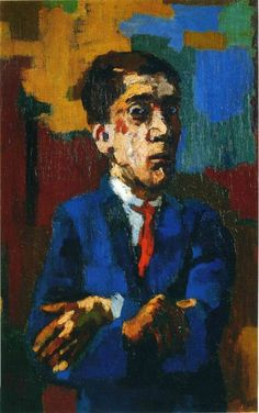 Oskar Kokoschka- Auto-retrato de Braços Cruzados
