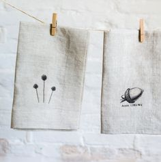 linen napkins printed with images 2 by pilosale on Etsy                                                                                                                                                                                 More