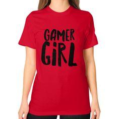 Gamer Girl Unisex T-Shirt (on woman)