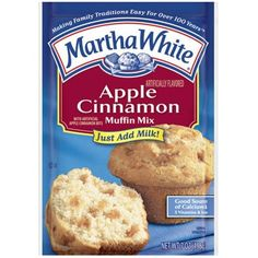 Martha White Muffin Mix Apple Cinnamon 7.0 oz. (Pack of 6... https://www.amazon.com/dp/B002YEE1DW/ref=cm_sw_r_pi_dp_x_nqFxybPD93SVX