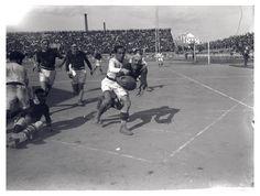 Partido de rugby en el campo de Les Corts, Barcelona