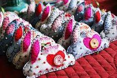 hand sewn felt badges rabbits - Google Search