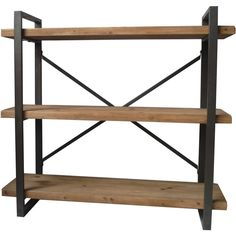 This solid wood-and-metal cart offers a handy storage place for books, CDs or other items you wish to display. The open-work industrial design makes a perfect addition to your modern decor.