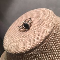 🐰Easter Bunny Sale!!🐰Sterling Dainty Ring Stamped .925 this ring is so beautiful and reminds me of having the branches of a tree. It's very dainty and well made with 4 prongs holding the beautiful faceted onyx gemstone. Jewelry Rings