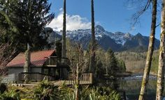 Perched above the Skykomish River and at base of Mt. Index, with your own beach