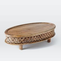 Carved Wood Ellipse