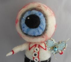 EYE Love YOU Ooak art doll by papermoongallery on Etsy, $59.00
