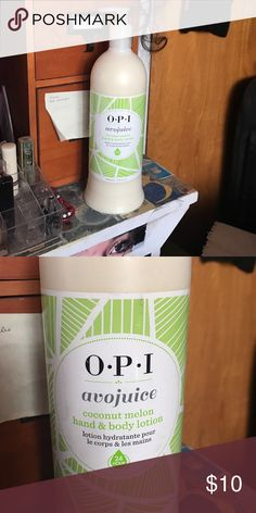 Opi avojuoce hand and body lotion Opi avojuoce hand & body lotion. Coconut melon hand & body lotion. 32oz OPI Other