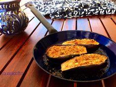 Melanzane al forno gratinate con la  menta e il basilico