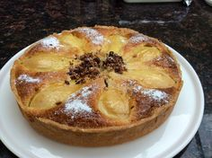 pear chocolate and Amaretto tart