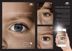 Flash Photo Posters | Advertising Poster Design for Health & Wellness Inspiration | Award-winning creative social good campaigns | Childhood eye cancer symptom awareness | D&AD Impact
