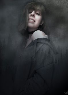 #photoshop #forest #grey #girl