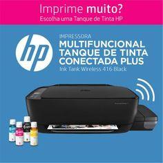 Impressora hp multifuncional 416 sem fio tanque de tinta - Magazine Lojamagalu1000