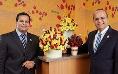 Edible Arrangements was founded by brother Kamran (left) and Tariq Farid (right)  BOYCOTT forever