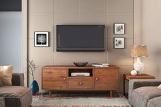 Hayworth Media Cabinet - Handcrafted From Reclaimed Teak Wood - Mid Century Modern Media Storage