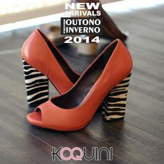 Peeptoe em Couro Vermelho #animalprint #koquini #sapatilhas #euquero http://koqu.in/1pK3eXO
