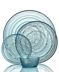 Iittala Dinnerware, Kastehelmi Blue Collection - Casual Dinnerware - Dining & Entertaining - Macy's Bridal and Wedding Registry