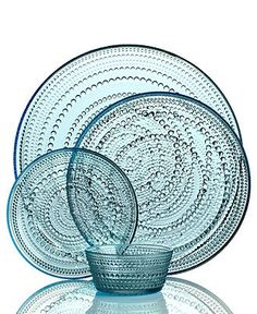 Iittala Dinnerware, Kastehelmi Blue Collection - Casual Dinnerware - Dining & Entertaining - Macy's Bridal and Wedding Registry