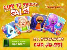 Back to School Elfishki iPad Fairy Tale sales - all 4 Fairy tales are just $0.99, that's 66% off!