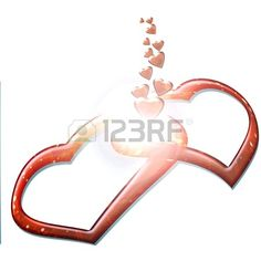 two hearts love they give off