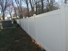 6' high Tongue and Groove white PVC | Beitzell Fence
