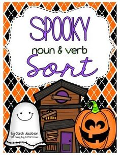 Your kids will have a blast sorting these Halloween noun and verbs!  Included you will find:*tips*game cover with instructions*noun and verb headings*16 noun cards*16 verb cards*recording sheetHappy Halloween! FREE