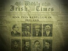 Irish Times front page describing the events of Easter week, and incorrectly labeled (as is/was commonly done) as the Sinn Féin Rebellion. The photographs of the seven signatories of the Proclamation are included. The Proclamation, Irish Times, The Seven, Man Cave, Ireland, Photographs, Lord, Easter, Events