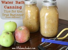 Five Little Homesteaders: Water Bath Canning: Tips for the True Beginner