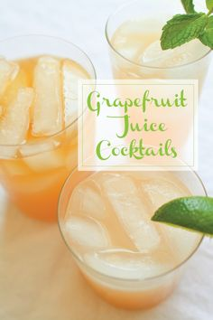 Grapefruit juice is the perfect base for all kinds of cocktails!