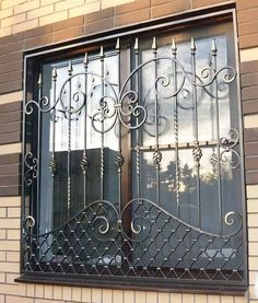 Metal door design ideas wrought iron 58 Ideas for 2019 Steel Grill Design, Grill Gate Design, Iron Gate Design, Railing Design, Iron Window Grill, Window Grill Design Modern, Window Design, Metal Windows, Iron Windows