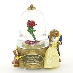 Disney Snowglobes Collectors Guide: Beauty and the Beast Personalized Snowglobe