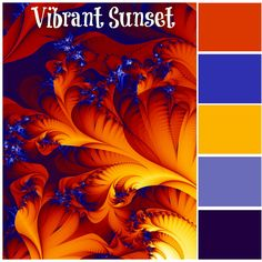 vibrant sunset keywords color swatches color combinations bold bright bright colorful home
