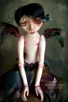 Hey, I found this really awesome Etsy listing at https://www.etsy.com/listing/236493543/art-doll-sculpture-ooak-avian