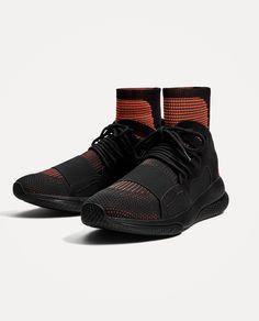 黑色襪型運動鞋