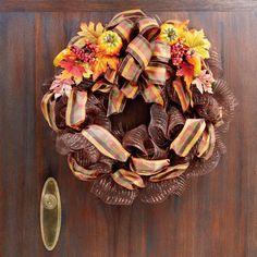 Fall Mesh Wreath