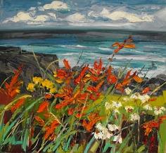 Judith Bridgeland, coast of northern Ireland Landscape Art, Landscape Paintings, Foto Picture, Seascape Paintings, Pictures To Paint, Art Sketchbook, Painting Inspiration, Abstract Art, Original Art