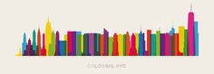 Colorful Poster of NYC's Colossal Buildings - My Modern Metropolis