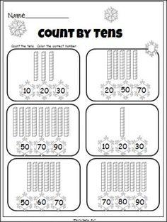 Winter Tens And Ones Practice (base ten blocks