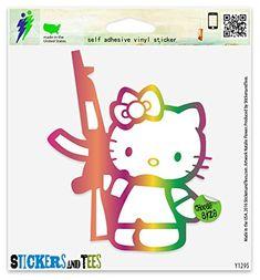 "Hello Kitty Machine Gun Vinyl Sticker Small Window Bumper Phone Decal 3"" x 2"" - http://www.caraccessoriesonlinemarket.com/hello-kitty-machine-gun-vinyl-sticker-small-window-bumper-phone-decal-3-x-2/  #Bumper, #Decal, #Hello, #Kitty, #Machine, #Phone, #Sma"