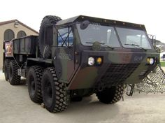 Hemmet 8WD Army truck. I drove a few of these. It was weird being in front of the steering wheels when you turned. My mom also drove these trucks!