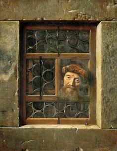 Samuel van Hoogstraten - Man at the window