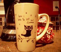 COFFEE! in an owl mug <3