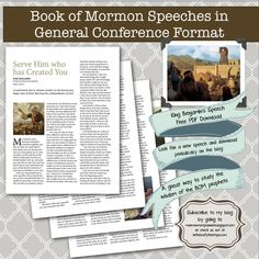 In the Leafy Treetops has weekly planners as well as LDS lesson helps. Get speeches from the Book of Mormon in conference talk form for easy studying!