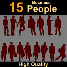 Human silhouettes business Model available on Turbo Squid, the world's leading provider of digital models for visualization, films, television, and games. 3d Human, 3d Models, Silhouettes, Film, Movie Posters, Movies, Film Stock, Films, Film Movie