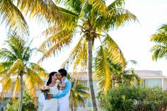 Beautiful bride and groom portrait at Moon Palace Golf & Spa Resort. Photo courtesy of #DreamArtPhotography. Special thanks to @Palace Resorts Weddings