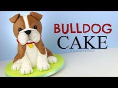How to Make a 3D Bulldog Cake - Laura Loukaides - YouTube