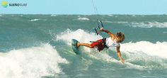 #Kitesurfing on the waves with Sueno Surf